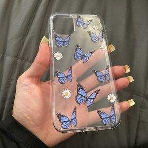 Clear butterfly iPhone 11 phone case